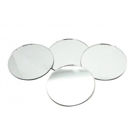 Samolepilna steklena ogledalca okrogla premer 50mm 5 kosov