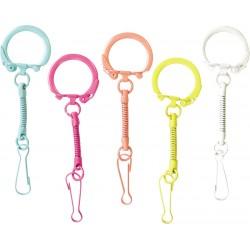 Obesek za ključe + karabin 10 kosov Barvni