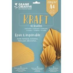 Kraft natur papir 220g. A4 10 listov