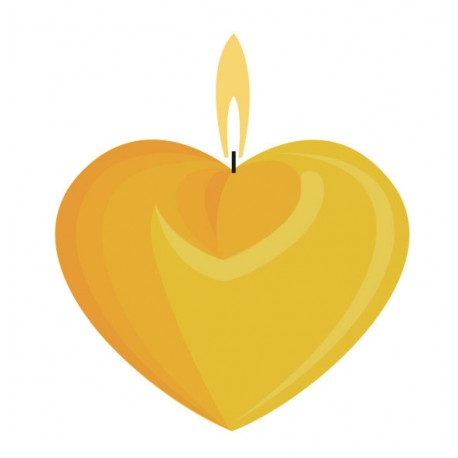 Kalup za sveče dvostranski Srce 80mm