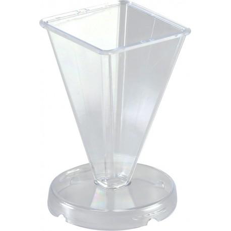 Kalup za sveče Piramida višina 75 x 48 x 45mm