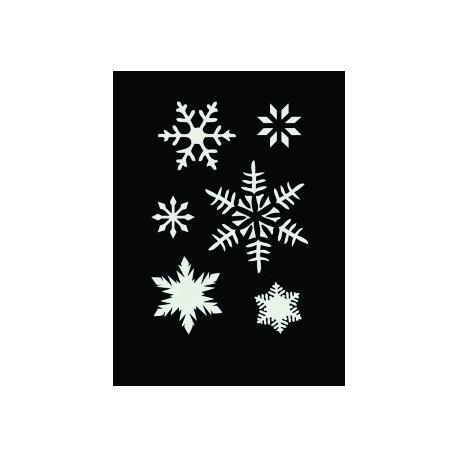 Samolepilna fleksebilna šablona 7 x 10cm Snežinke