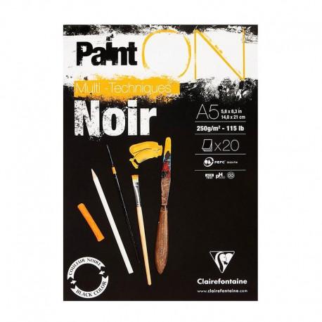 PaintOn blok za mešano tehniko Črna 250g.