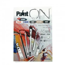 PaintOn blok za mešano tehniko 6 barv po 4 liste 250g.