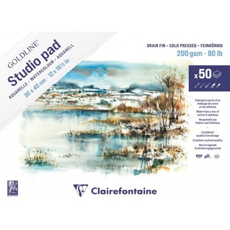 Goldline Studio akvarel blok 30x40cm 200g. 50 listov