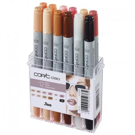 COPIC Ciao set 12 Kožne barve