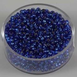 Srebrna sredica, safir modre 2,6mm 17g.
