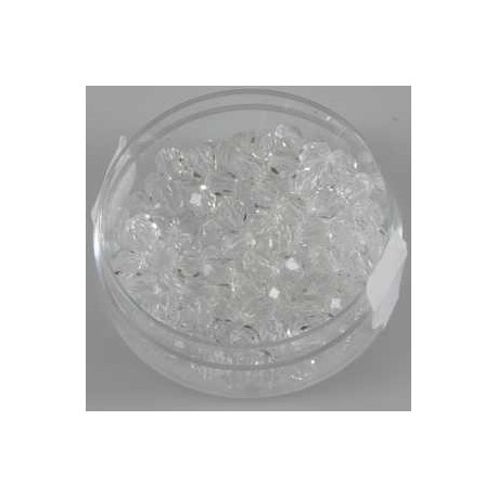 Brušene steklene perle 4mm, prozorne, 100kos
