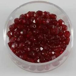 Brušene steklene perle 4mm, granat rd., 100kos