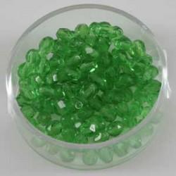 Brušene steklene perle 4mm, svetlo zelene, 100kos