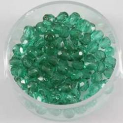 Brušene steklene perle 4mm, smaragdne, 100kos