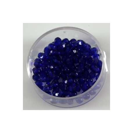 Brušene steklene perle 4mm, azurno modre, 100kos
