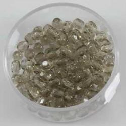 Brušene steklene perle 4mm, sive , 100kos