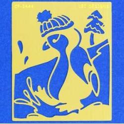 Embossing šablona Pingvin 80 x 70 x 0,3mm