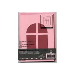 Voščilnica+paus papir+kuverta A5 okno,Roza, 3kosi