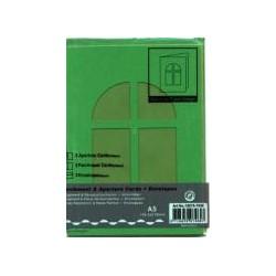 Voščilnica+paus papir+kuverta A5 okno, Tem. zelena, 3kos