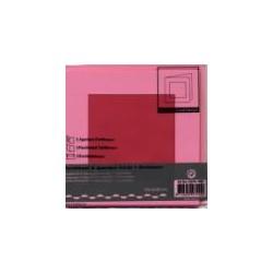 Voščilnica+paus p+kuverta 125x125mm kvadratni iz, Pink,