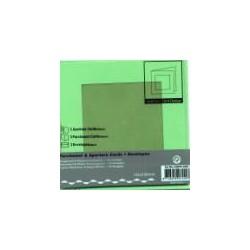 Voščilnica+paus p+kuverta 125x125mm kvadratni iz, Zelena