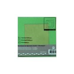 Voščilnica+paus p+kuverta 125x125mm kvadratni iz,T.modra