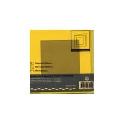 Voščilnica+paus p+kuverta 125x125mm kvadratni iz, Rumena