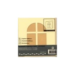 Voščilnica+paus p+kuverta 125x125mm okno, Bež.3kosi