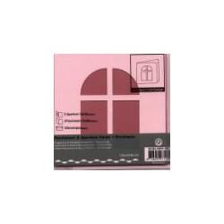 Voščilnica+paus p+kuverta 125x125m okno, Roza.3kosi