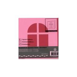 Voščilnica+paus p+kuverta 125x125m okno, Pink.3kosi