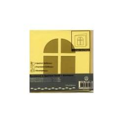 Voščilnica+paus p+kuverta 125x125m okno, Pa. rumena.3kos