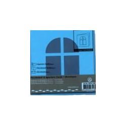 Voščilnica+paus p+kuverta 125x125m okno, Modra.3kosi