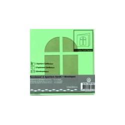 Voščilnica+paus p+kuverta 125x125m okno, Zelena.3kosi