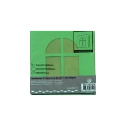 Voščilnica+paus p+kuverta 125x125m okno, T. Zelena.3kosi