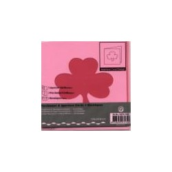 Voščilnica+paus p+kuverta 125x125m deteljical, Pink.3kos