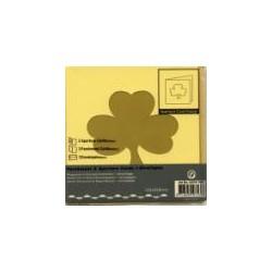 Voščilnica+paus p+kuverta 125x125m deteljica, Pa rumena.
