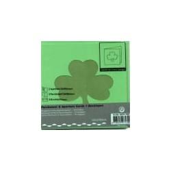 Voščilnica+paus p+kuverta 125x125m deteljica, Zelena.3ko