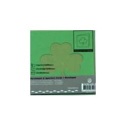 Voščilnica+paus p+kuverta 125x125m deteljica, T.zelena.3
