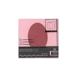 Voščilnica+paus p+kuverta 125x125m oval, Roza,3kosi