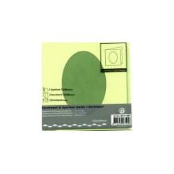 Voščilnica+paus p+kuverta 125x125m oval, Pa. zelena 3kos