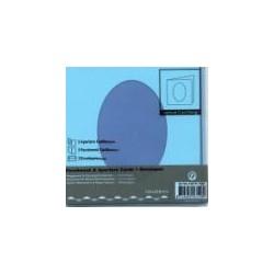 Voščilnica+paus p+kuverta 125x125m oval, pa. modra 3kosi