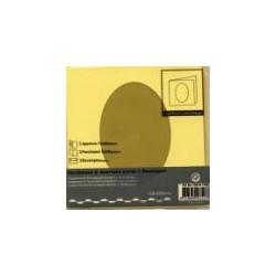 Voščilnica+paus p+kuverta 125x125m oval, Pa rumena, 3kos