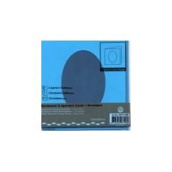 Voščilnica+paus p+kuverta 125x125m deteljica, Modra, 3ko