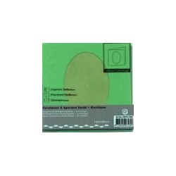 Voščilnica+paus p+kuverta 125x125m deteljica, T. zelena,
