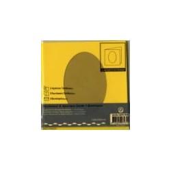 Voščilnica+paus p+kuverta 125x125m oval,Rumena, 3kosi