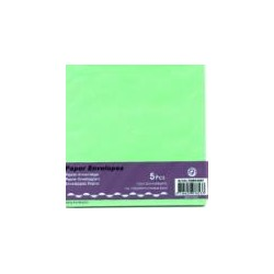 Kuverta kvadratna za voš. 125x125mm, Zelena, 5kos