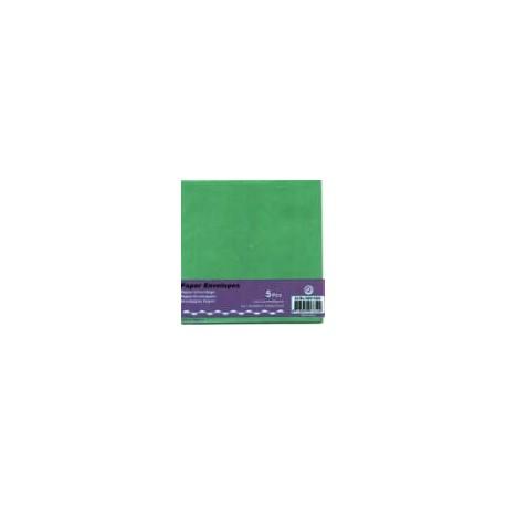 Kuverta kvadratna za voš. 125x125mm,Te. zelena, 5kos