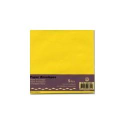 Kuverta kvadratna za voš. 125x125mm, Rumena, 5kos