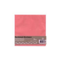 Paus kuverta za voš. 125x125mm, Roza, 3kosi