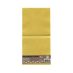 Voščilnica paus papir 125x125mm, Rumena, 5kos