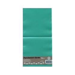 Voščilnica paus papir 125x125mm, Turkizna, 5kos