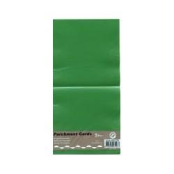 Voščilnica paus papir 125x125mm, Tm. zelena, 5kos