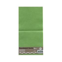 Voščilnica paus papir 125x125mm, Zelena, 5kos